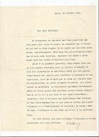GUSTAVE SCHELLE (PARIS 1845 1927) ECONOMISTE FRANCAIS SPECIALISTE DES PHYSIOCRATES TAPUSCRIT SIGNE 1914 - Autographs