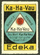 "BERLIN ~ 1913 "" Ka-Ha-Vau EDEKA "" Art Deco Vignette Cinderella Reklamemarke - Erinofilia"