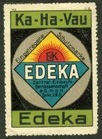 "Berlin ~1913 "" Ka-Ha-Vau EDEKA "" Art Deco Vignette Cinderella Reklamemarke - Erinofilia"