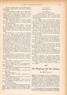 095 Luftschiffahrt Lilienthal Ballon 1 Artikel Mit 9 Bildern Von 1894 !! - Transports