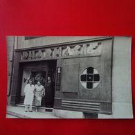 CARTE PHOTO PHARMACIE LIEU A IDENTIFIER - Postcards