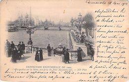 PARIS. Exposition Universelle 1900. Perspective Sur La Seine Vue Prise Du Pont Alexandre III.. - Francia