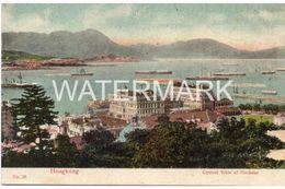 HONG KONG CENTRAL VIEW OF HARBOUR OLD COLOUR POSTCARD HONGKONG - China (Hong Kong)