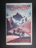 BROCHURE TOURISTIQUE France 1928 (V2010) ROUTE DES ALPES (4 Vues) AUTOCARS PLM - Illustration MARCEL SAHUT - Tourism Brochures