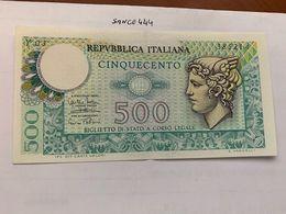 Italy Mercurio 500 Lire Uncirc. Banknote 1974 #1 - 500 Lire