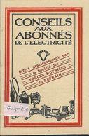 """FORCES MOTRICES Du REFRAIN ( Doubs)- Livret"""" Conseils Aux Abonnés De L'Electricité"""" - Publicités"""
