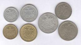 Lot 17 Monnaies Monaco Louis II Et Rainier III - Monaco