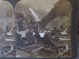 PHOTO STEREO SUISSE -  St Gothard Et Amsteg - 1901 - H.C White  - BE - Photos Stéréoscopiques
