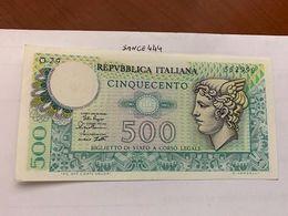 Italy Mercurio 500 Lire Uncirc. Banknote 1979 #9 - 500 Lire