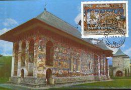 Romania - Maximum Postcard,maxicard 1979 -  Monastery -  Moldovita Monastery ( 16th Century ) - Abdijen En Kloosters