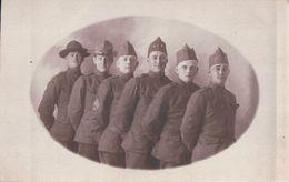 CARTE PHOTO Militaires US (américains) Avec 1-9 Sur Le Calot - Guerre 1914-18