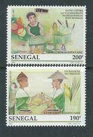 Sénégal N° 1253 / 54 XX  La Sécurité Alimentaire,  Les 2 Valeurs Sans Charnière, TB - Senegal (1960-...)