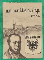 Besançon (25) U.N.M.R.I.F.E.N. / F.P. 48ème A.G. Assemblée Générale Blason Aigle P.-J. Proudhon - Besancon