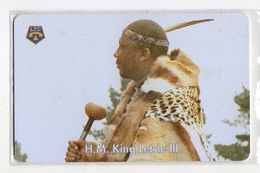 LESOTHO REF MV CARDS LES-02 M20 H.M. KING LETSIE III - Lesoto