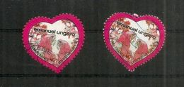 FRANCE. Saint Valentin. Emanuel Ungaro , 2 Val.  Oblitérés Année 2009   Auto-collant / Adhésifs - Mother's Day