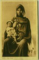 AFRICA - EGYPT - NATIVE WOMAN BREASTFEEDING HER BABY - EDIT L. SCORTZIS - 1910s (BG1471) - Egypte