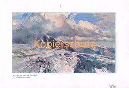 110-2 E.T.Compton Saleinazgletscher Artikel Mit Bildern Und Kunstblatt 1907 !!! - Francia