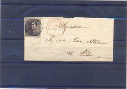 Nr 1 Om Poststuk - 1849 Hombreras