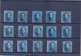 15 + Getande 20 Ct Medaillon - 1863-1864 Medallones (13/16)