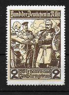 Österreich Deutsches Reich WW1 WK1 Wir Halten Aus Vignet Werbemarke Cinderella Advertisement Propaganda - WW1
