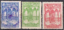 Serie Completa Huerfanos De Telegrafos, Beneficencia 1938, Edifil Num 13-14-15 º/* - Wohlfahrtsmarken