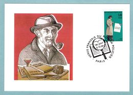 Carte Maximum 1997 - Héros De Roman Policier - Commissaire Maigret - Auteur : Georges Simenon - YT 3029 - Paris - Cartes-Maximum