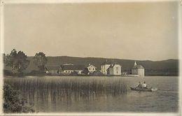 Themes Div-ref EE891- Carte Photo Non Située -  Village A Identifier En Bord De Lac - - Postcards