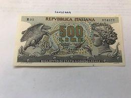 Italy Aretusa 500 Lire Uncirc. Banknote 1966 #1 - 500 Lire