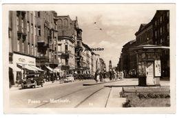 Posen, Martinstr., Poznan, Martinstraße, Alte Foto Ansichtskarte 1939 - Polen