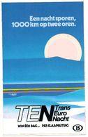 TEN Transeuro Nacht Trein Train Tren Sticker Autocollant Belgische Spoorwegen - Stickers
