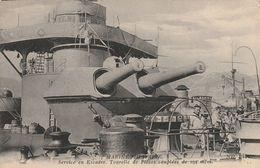 Marine Militaire -  Service En Escadre - Tourelle De Pièces Couplées De 194 M/m - Warships