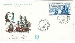"TAAF FDC Aerien YT 58 "" Navires La Recherche & L'Espérance""  Du 1-2-1980 - FDC"