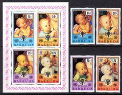 BARBUDA - 1979 INTERNATIONAL YEAR OF THE CHILD 2nd ISSUE SET (4V) & MS FINE MNH ** SG 479-482, MS483 - Barbuda (...-1981)