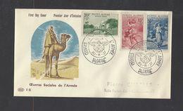 ALGERIE.  YT  FDC   N° 346/348  Oblitération 1er Jour  30-11-57 - FDC