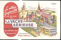 Buvard Le Village Grosjeanville - La Vache Sérieuse - Papel Secante