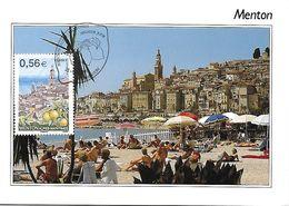 4337 -  MENTON - ALPES-MARITIMES, 1er Jour - Maximum Cards