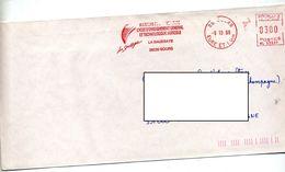 Lettre Flamme  Ema Sours Lycee Agricole La Saussaye - Marcophilie (Lettres)