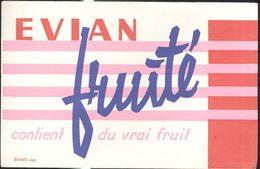 Buvard Evian - Fruité Contient Du Vrai Fruit - Carte Assorbenti