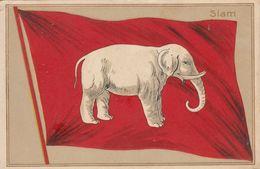Postcard Siam Flag Thailand - Thailand