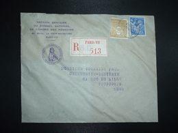 LR TP IRIS 4F + ARC DE TRIOMPHE 50c OBL.24-12 44 PARIS VII + DENTIBUS CRUCIATA DENTIBUS CRUCIATIS - MEDEATUR APPOLLONIA - 1939-44 Iris
