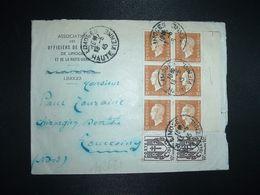LETTRE TP M. DE DULAC 30c BLOC De 6 + CHAINES BRISEES 10c Paire OBL.13-5 45 LIMOGES HAUTE VIENNE (87) Ass. DES OFFICIERS - 1944-45 Maríanne De Dulac