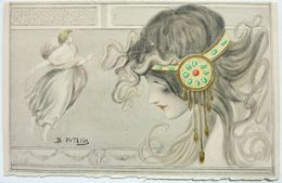 PROFIL DE FEMME - B PATELLA - Autres Illustrateurs
