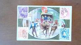 CHROMO - LA POSTE EN ESPAGNE - TIMBRES / STAMPS - Trade Cards