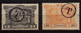 PORTUGAL : 1898 - TAXE N° 1 ET 3 - Port Dû (Taxe)