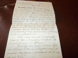 B767  Vecchia Lettera Intestata Ristorante Croce Rossa Oropa -biella - Old Paper