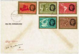 CUBA 1968. DIA DEL GUERRILLERO HEROICO. CHE GUEVARA. EDIFIL 1587/91 - FDC