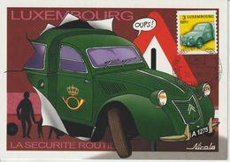 Luxembourg Carte Maximum 2001 Voiture 2CV Citroen 1487 - Cartes Maximum