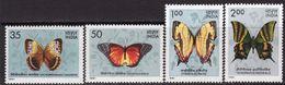 India 1981 Butterflies Set Of 4, MNH, SG 1019/22 (D) - Indien