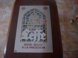BIERE BELGE A LA PRESSION - ABBAYE DE LEFFE - PANNEAU PUBLICITAIRE - Affiches