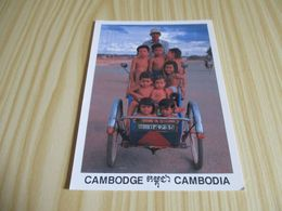 Phnom Penh (Cambodge).Tricycle With Happy Children. - Cambodge